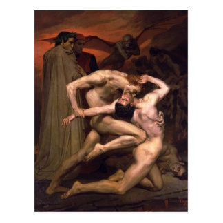 William Bouguereau- Dante and Virgil in Hell Postcard