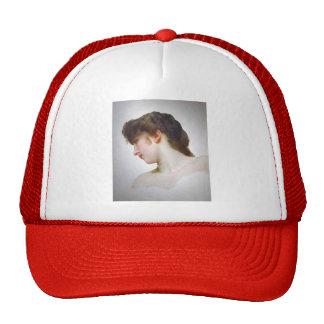 William Bouguereau- Head Study of Female Face Cap
