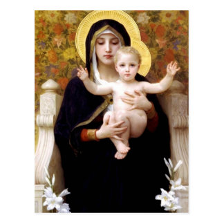 William Bouguereau- The Madonna of the Lilies Postcard