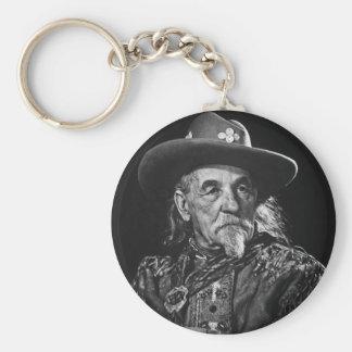 William Buffalo Bill Cody Vintage Portrait Key Ring