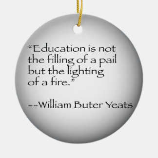 William Butler Yeats Quote Christmas Ornament