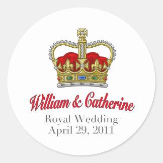 William & Catherine Royal Wedding April 29, 2011 Classic Round Sticker