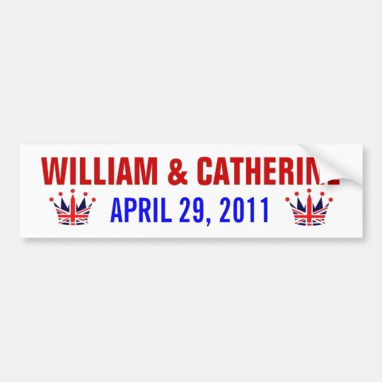 William & Catherine Royal Wedding Bumper Sticker