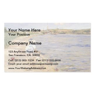 William Chase- Beach Scene- Morning at Canoe Place Pack Of Standard Business Cards