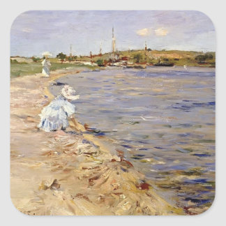 William Chase- Beach Scene- Morning at Canoe Place Stickers