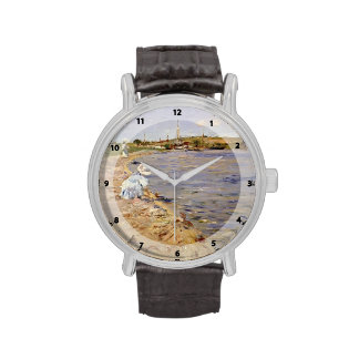 William Chase- Beach Scene- Morning at Canoe Place Wristwatches