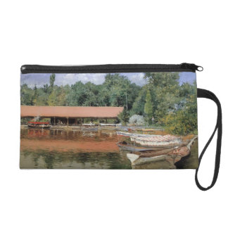 William Chase- Boat House, Prospect Park Wristlet Clutches