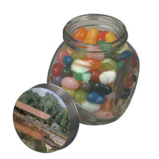 William Chase- Boat House, Prospect Park Glass Candy Jar