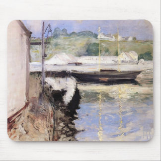 William Chase- Fish Sheds and Schooner, Gloucester Mousepad