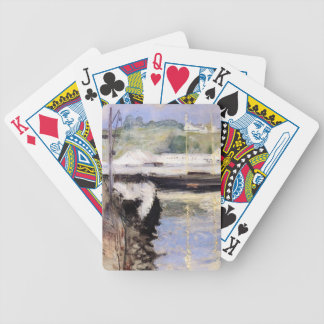 William Chase- Fish Sheds and Schooner, Gloucester Bicycle Poker Cards
