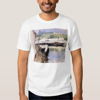 William Chase- Fish Sheds and Schooner, Gloucester T-shirt