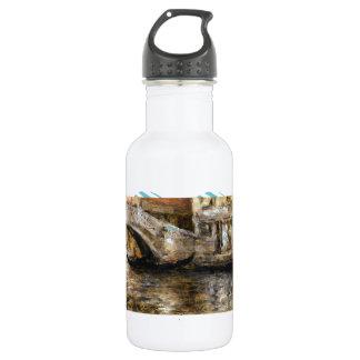 William Chase- Gondolas along Venetian Canal 532 Ml Water Bottle
