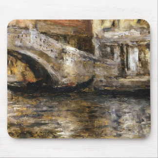 William Chase- Gondolas along Venetian Canal Mousepads