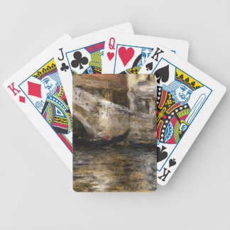 William Chase- Gondolas along Venetian Canal Bicycle Card Deck