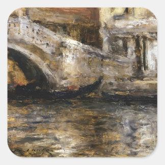 William Chase- Gondolas along Venetian Canal Sticker
