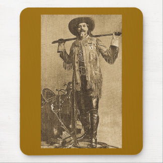 William Cody - Frontiersman Sepia Mouse Pads