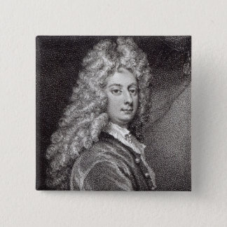 William Congreve  engraved by P.W.Tomkins 15 Cm Square Badge