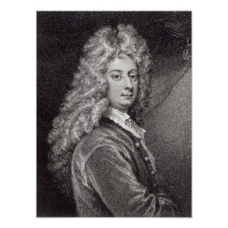 William Congreve  engraved by P.W.Tomkins Poster