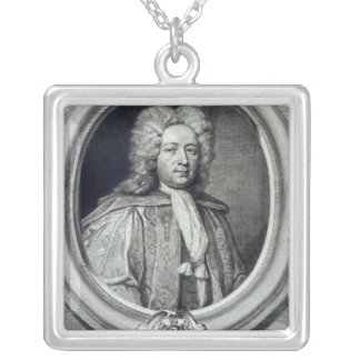 William Croft, engraved by George Vertue Silver Plated Necklace
