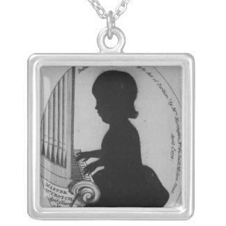 William Crotch Playing the Organ Silver Plated Necklace
