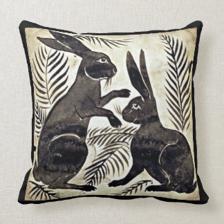 William De Morgan Rabbits Cushion