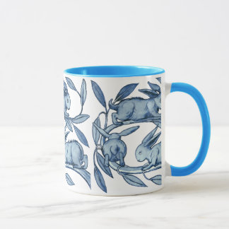 William De Morgan Rabbits Mug