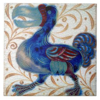 William De Morgan The Dodo Ceramics Large Square Tile