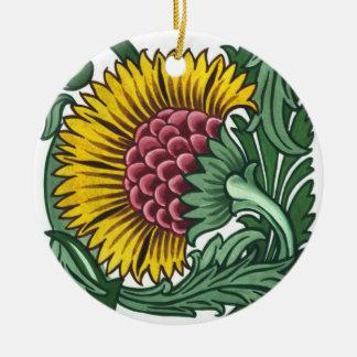 William de Morgan Tile Round Ceramic Decoration