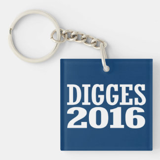 William Digges 2016 Double-Sided Square Acrylic Key Ring