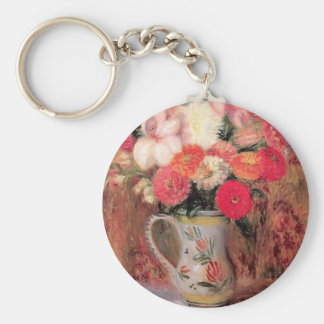 William Glackens- Flowers in a Quimper Pitcher Key Chain