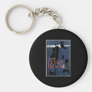 William H Bradley The Chap Book Lady In Blue Basic Round Button Key Ring
