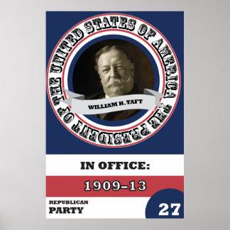 William H. Taft Presidential History Retro Poster