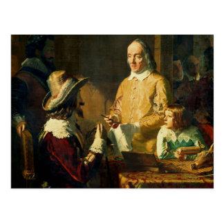 William Harvey  demonstrating to Charles I Postcard