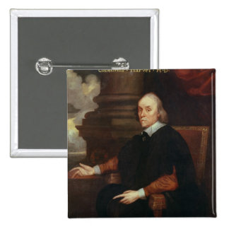 William Harvey  Royal physician, 17th century 15 Cm Square Badge