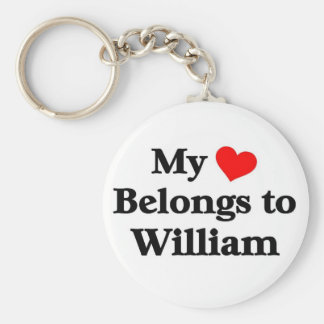 William has my heart keychain