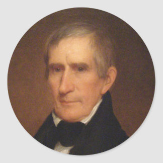 William Henry Harrison 9 Classic Round Sticker