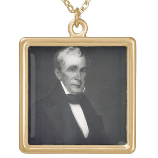 William Henry Harrison, 9th President of the Unite Square Pendant Necklace