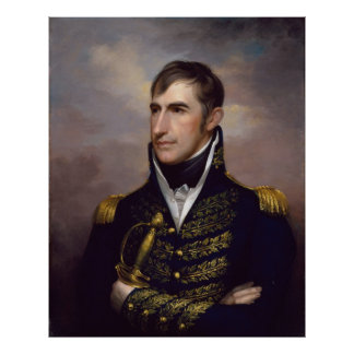 WILLIAM HENRY HARRISON Portrait by Rembrandt Peale Poster