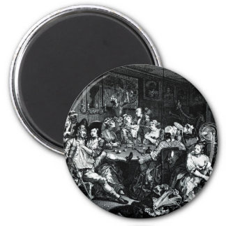 William Hogarth Art 6 Cm Round Magnet