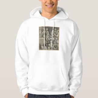 William Hogarth Art Hooded Pullovers