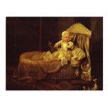 William Hogarth-Gerard Anne Edwards in His Cradle Postcard