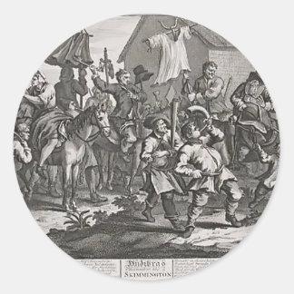 William Hogarth-Hudibras Encounters Skimmington Round Sticker