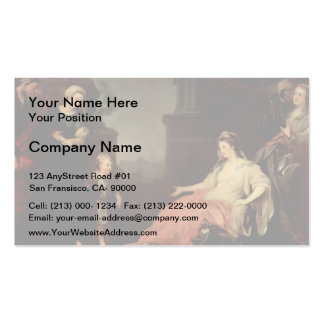 William Hogarth-Moses Before Pharaoh s Daughter Business Card Templates