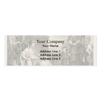 William Hogarth- Moses Brought Pharaoh s Daughter Business Card