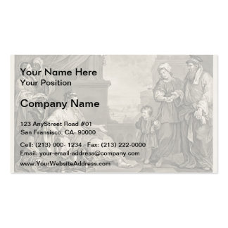 William Hogarth- Moses Brought Pharaoh s Daughter Business Cards