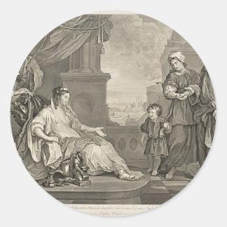 William Hogarth- Moses Brought,Pharaoh's Daughter Sticker