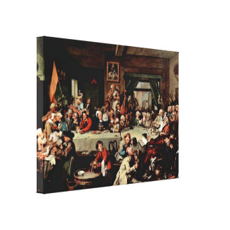 William Hogarth - The Banquet Stretched Canvas Print