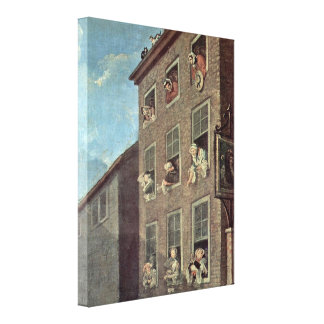 William Hogarth - The March to Finchley Gallery Wrap Canvas