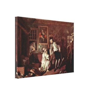 William Hogarth - The murder of the count Canvas Print