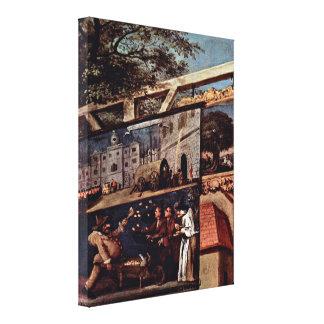 William Hogarth - The Wedding Banquet Canvas Print